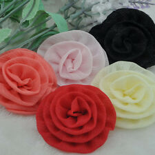 10pcs Organza Ribbon Flower Rose Wedding Sewing Appliques Crafts B204