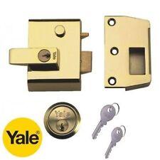 Yale bloqueo doble 40mm Noche Pestillo Nightlatch & Cilindro en latón pulido nuevo