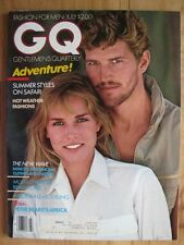 GQ July 1981 Matthew Norklun Anette Stai Peter Beard C Reeve Debbie Dickinson