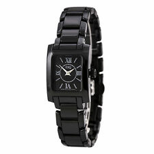 ESQ 7101386 Womens Swiss Ceramic Bracelet Black Dial Watch