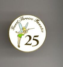 Disney World Fairy Tinker Bell Guest Services Fanatic 25 Cast Award Round Pin
