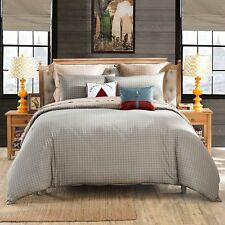 LOVO Reversible 100% Cotton 4-Piece Bedding Set Queen Coffee & Grey
