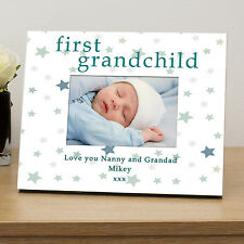 Personalised FIRST GRANDCHILD Photo Frame 6x4 - New Grandparents, New Baby Gift