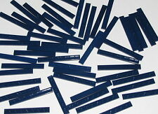 Lego Lot of 50 New Dark Blue Tiles 1 x 8 Flat Smooth Pieces