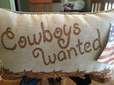 Cowboy/Cowgirl Reversible Pillow