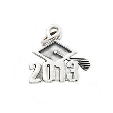 STERLING SILVER ONE SIDED CLASS OF 2013 GRADUATION CHARM/PENDANT