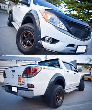 Black Workmate Fender Flares Wheel Arch Arches 7 FOR MAZDA BT50 BT-50 Pro 12-14