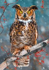 500 TEILE PUZZLE, GREAT HORNED OWL  , CASTORLAND 52387