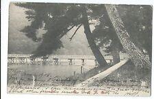 Japan, River Bridge, pinted Tokyo, pm 1907