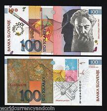 SLOVENIA 100 TOLAR P25 2001 EURO COMMEMORATIVE GRAPHIC UNC CURRENCY MONEY BILL