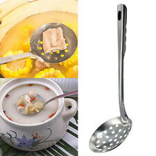 New Stainless Steel Soup Ladle Skimmer Strainer Spoon Cooking Kitchen Tools