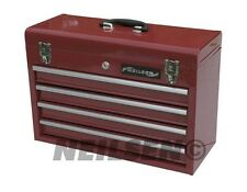 4 Drawer Portable Steel ToolBox Tool Chest Box Garage Storage Heavy Duty New