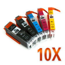 10pcs Ink Cartridges PGI650 XL CLI 651 XL For Canon Pixma MG5660 MG6660 Printer