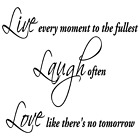 LIVE LAUGH LOVE INSPIRATIONAL QUOTE VINYL WALL DECAL STICKER ART-DECOR