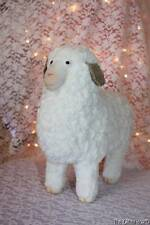 "Easter Lamb Paper Mache? Standing Chenille Lamb Figurine 10"" Tall Photo Prop"