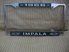 1966 Chevy Impala License Plate Frame with Chevrolet Bowtie