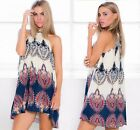 SZ L Sexy Womens Sleeveless Party Evening Cocktail Summer Beach Short Mini Dress