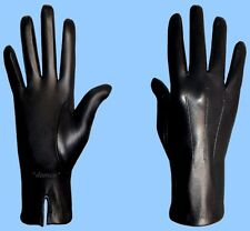 NEW MENS size 9 BLACK SILK LINED GENUINE KID LEATHER DRESS GLOVES