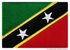 ST KITTS NEVIS NATIONAL FLAG PATCH CARIBBEAN iron-on EMBROIDERED SOUVENIR EMBLEM