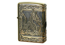 Zippo Dragon with Epoxy / Antique Brass / RARE Model from Japan !