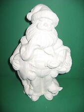 FARM ANIMAL SANTA 9 INCH TALL  CERAMIC  BISQUE  U PAINT IT  .MADE IN USA.