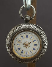 PRETTY - ANTIQUE SWISS ORNATE LADIES FOB POCKET WATCH C1900