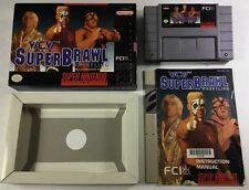 WCW Superbrawl Wrestling (Super Nintendo 1994) Snes CIB Complete Ex+ Rare!