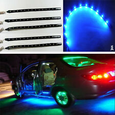 Blue 5pcs 30CM/15 LED Car Motors Truck Flexible Strip Light Waterproof 12V Hot