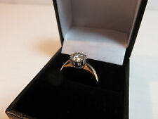 GENUINE MOISSANITE DIAMOND SOLITAIRE 9 CARAT SOLID YELLOW GOLD RING 6.5mm vvs1