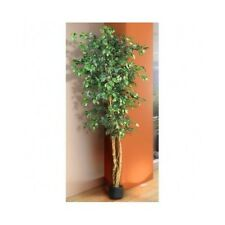 Silk Ficus Tree 6 Ft Artificial Potted Plant Indoor Home Decor Natural Green New