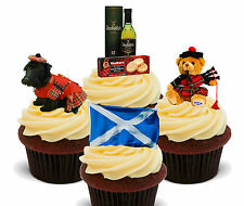 Scotland Fun Pack, Edible Cupcake Toppers, Stand-up Fairy Cake, Scottish Flag