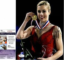 Ashley Wagner In-Person Signed 8x10 Photo w/ JSA COA #P92283  US Figure Skating