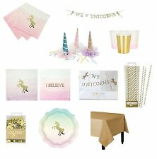 I believe in Unicorns MEGA party tableware Package, Unicorn Horn,garland, etc