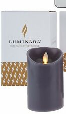 "Luminara 4"" Flameless Candle with Timers (Dark Grey) - WITH REMOTE"