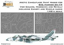 Arctic Camo + Canopy & Wheels Paint Masks for BAE Harrier Gr.7/9 1/48