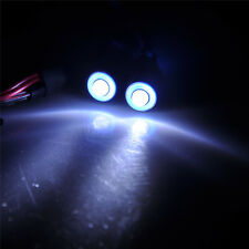 2 Leds 5mm Angel Eye LED Light Headlight Bulb for 1/10 RC Car Truck (blue+white)