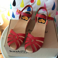 Swedish Hasbeens Red Debutante BRAND NEW Size EU 38 Gorgeous! RRP £99