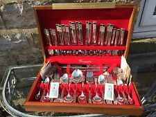 101-piece 1960's Community Oneida Hampton Court cased Silver-plated cutlery set
