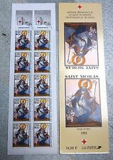 France Carnet  Croix rouge Red Cross 1993 non plié - Saint Nicolas - Sinterklaas