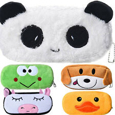 Cute Cartoon Kawaii Pencil Case Plush Large Pencil Bag For Kids School Supplies