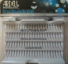 (LOT OF 4) Ardell Duralash REGULAR MEDIUM Individual SINGLE Fake Lashes Black