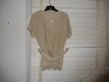 Sale: Wolford Austria ~Art to Wear~Lagenlook Silk Beige Twinset Sweater Set ~ M