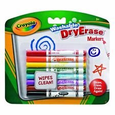 8 Crayola Washable Dry Erase DryErase Washable Markers Felt Tip Pens Whiteboards
