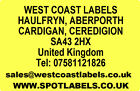 Rolls of Printed Personalised PALE YELLOW ADDRESS Labels - 38mm x 25mm