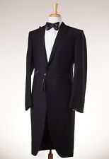 NWT $2995 OZWALD BOATENG Black Wool-Mohair Frock Coat Tuxedo Slim 46 R Suit