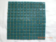 144 Dark Green Vitreous Glass Mosaic 20x20x4mm Tiles - One Sheet 250 x 250 mm