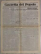 Gazzetta del Popolo 21 gennaio 1944 Offensiva sovietica