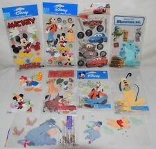 Lot/10 Jolees DISNEY Dimensional Sticker Pooh Mickey Monsters Inc Cars Lion King