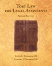 Tort Law for Legal Assistants (West Legal Studies), Edwards, J. Stanley, Edwards
