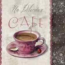 20 Paper Napkins COFFEE MEETING Decoration Vintage Kitchen Cup Decoupage 33x33cm